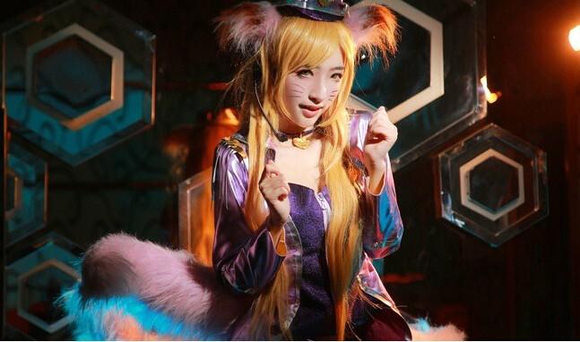 英雄聯盟阿貍cosplay背景是竹林的女的叫什么圖片